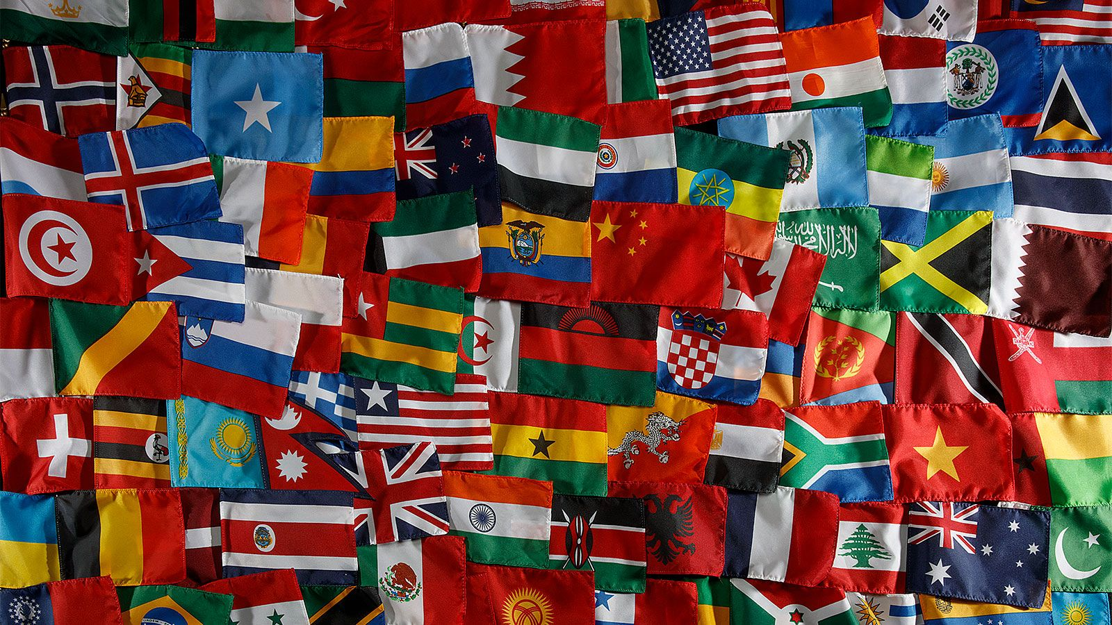 Flags from all over the world