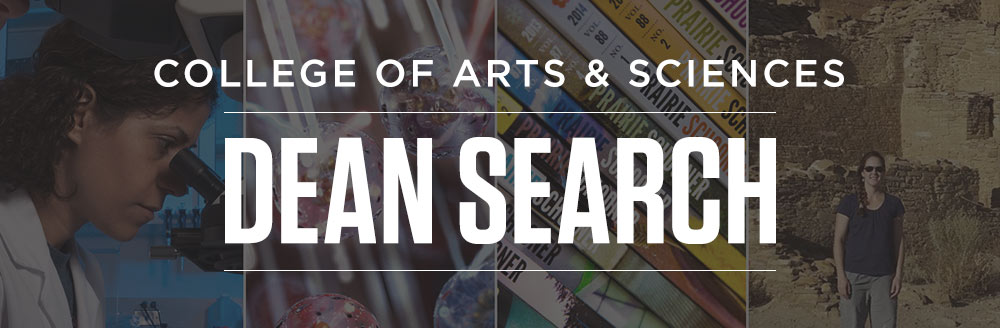 Search for the Dean of the College of Arts and Sciences